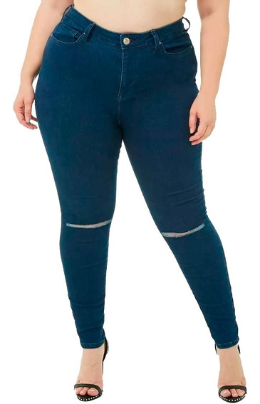 Pantalón Jean Rotura Rodilla Skinny Forever 21 T 20 American