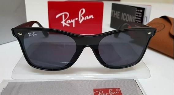Óculos Sol Ray-ban Blaze Wayfarer Nylon Rb4440 Preto Clássic