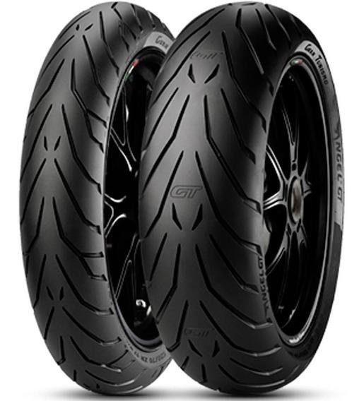 Par Pneu Xj6 Cb 500 F 120/70r17 + 170/60r17 Angel Gt Pirelli