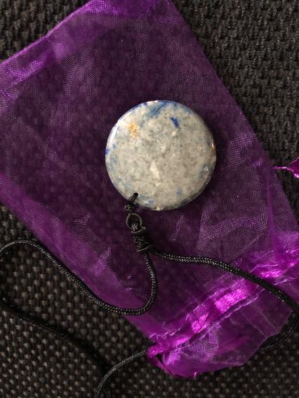 Collar Om Lapiz Lazuli Azul Cuarzo Reiki Proteccion Energia