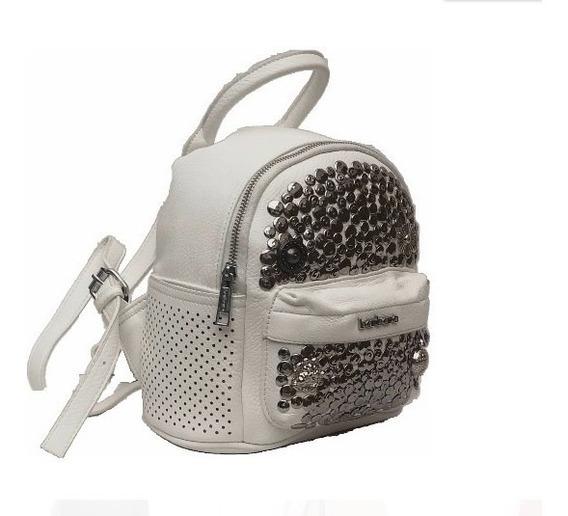 Mochila Mini Tachas Con Bolsillo Mujer Importada Barbara Bags Ga25 Mapleweb Envio Gratis