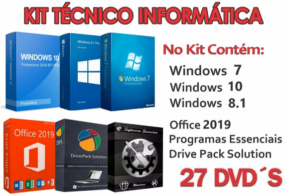 Kit 27 Dvds,formatação E Pós Formatação Envio Digital