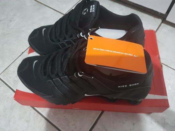 Tênis Masculino Nike Shox Nz Eu - Preto - Semi-novo