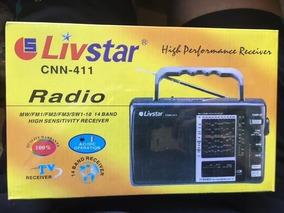 Radio Am Fm1 Fm2 Fm3 Tv Receiver Sw1-10 14 Bandas Cnn-411
