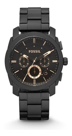 Relógio Fossil Machine Stainless Fs4682 Importado E.u.a