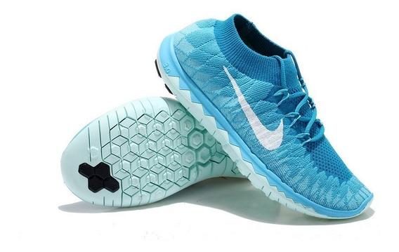 Tennis Zapatillas Nike Flyknit Free Runing 3.0tobillera Dama