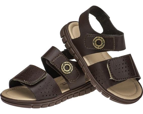 Sandália Papete Infantil Masculino Velcro Sintetico