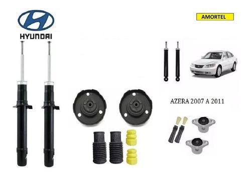 4 Amortecedores + Kit´s Batentes Do Hyundai Azera Ano 07/11