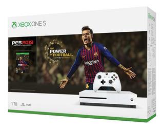 Combo Consula Xbox One S 1tb 4k Hdr Bluray + Pes2019 Gtia