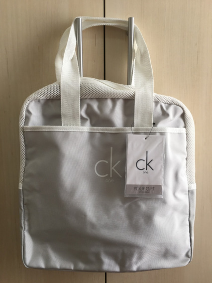 Bolsa/bag Ck One Calvin Klein Com Bolso Frontal Impermeável.
