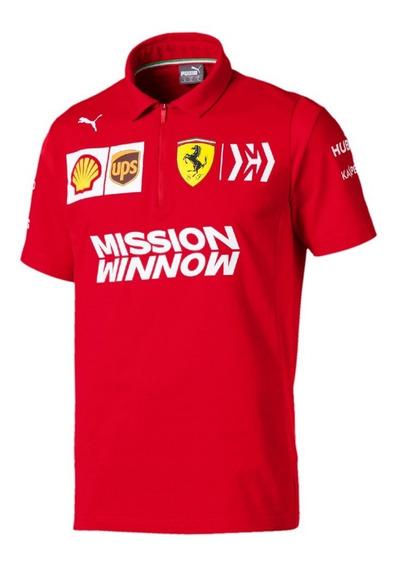 Camisa Polo Ferrari Equipo Marca Puma Original Nueva 2019*