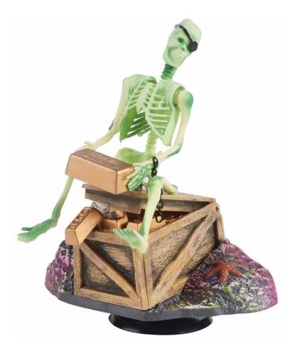 Imagen 1 de 5 de Decoración Pirata Esqueleto Para Peceras Y A