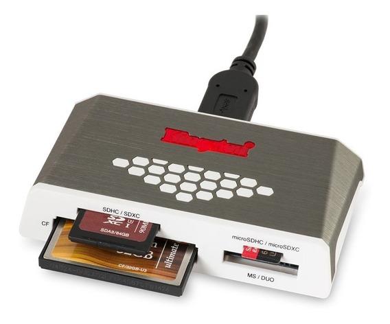 Leitor Cartão De Memória Kingston Usb 3.0 Sd Compact Flash