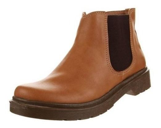 Zapato Botita Tipo Botineta De Cuero Ecológico