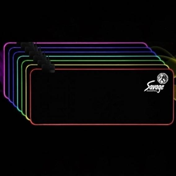 Mouse Pad Gamer Extra Grande 80cmx30cm - Com Led Rgb