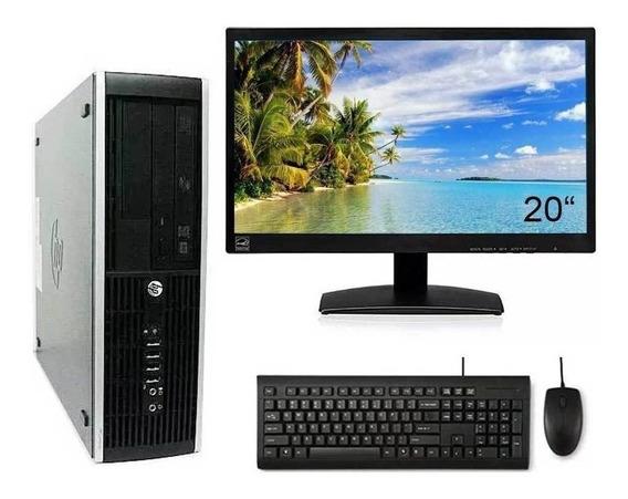 Cpu Hp Elite 8300 I7 3ª G 8gb Ssd 120gb Wifi + Monitor 20