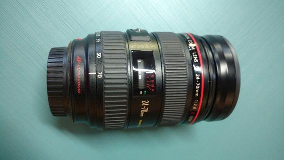 Objetiva Canon 24x70 2.8 L Usm