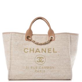 Bolsa Chanel Deauville Canvas Tote - Pronta Entrega