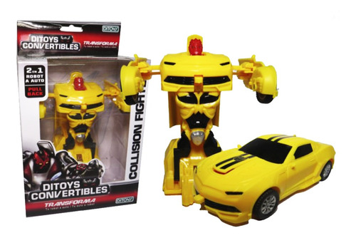Ditoys Convertibles Collision Fighters Amarillo