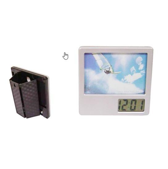 Relógio Digital Mesa Porta Caneta Lápis Escritório R924s