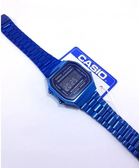 Reloj Casio Azul A168 1 Pieza Sin Caja