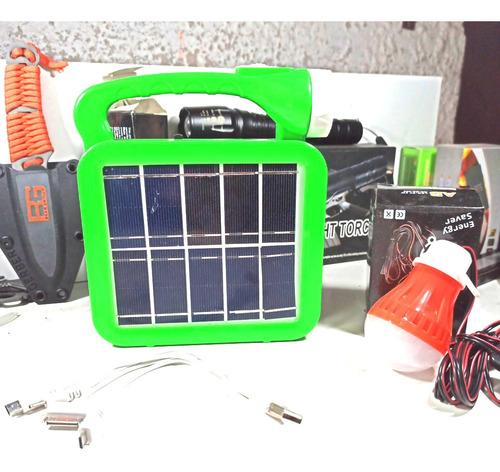 Imagen 1 de 9 de Kit Iluminación Led Portátil Solar Multifunción Power Banck