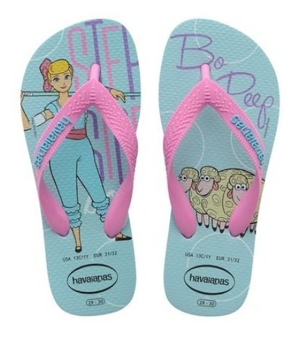 Chinelo Havaianas Infantil Toy Story 4 -azul Ice Blue