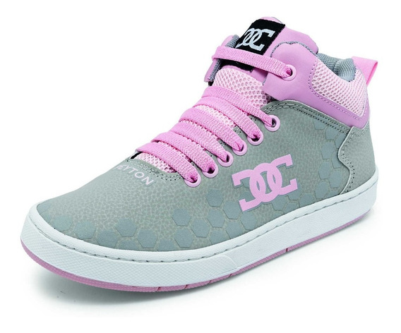 Tenis Para Dama Peyton Modelo 48 Color Gris/rosa