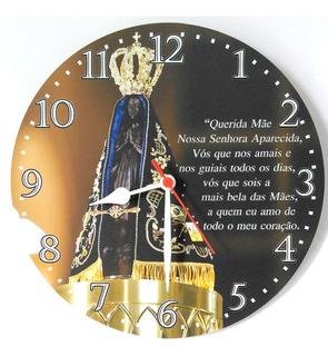 Relógio Parede Fé Nossa Senhora Aparecida Religião Jesus Bíblia 30cm