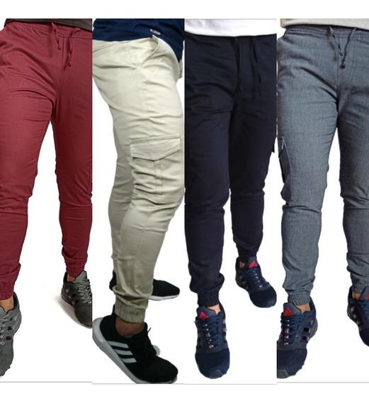 4 Pantalón Jogger Dril Licrado (pitillo Strech) 6 Bolsillos