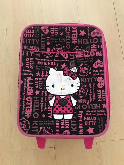 Mala De Mão Mochila Infantil De Viagem Rodinha Hello Kitty