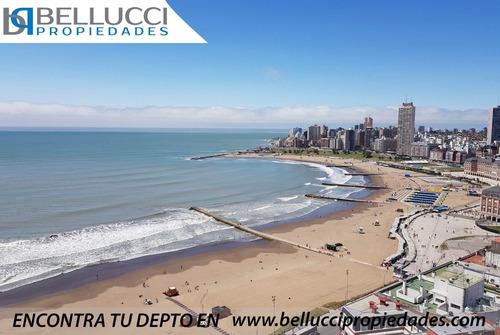 Departamento De 1 Amb Con Vista Plena Al Mar En Venta / Mar Del Plata