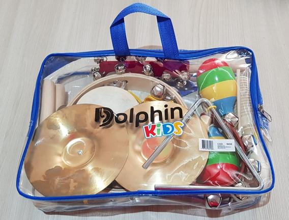 Kit Bandinha Dolphin Kids Percussão Infantil 10 Instrumentos