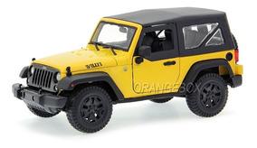 Jeep Wrangler Willys 2014 Maisto 1:18 Amarelo 31676