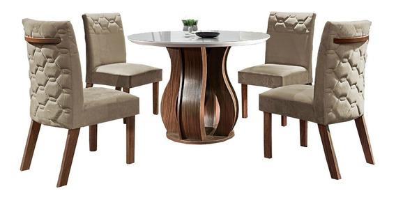 Sala De Jantar De Luxo - 4 Cadeiras - Mesas E Cadeiras