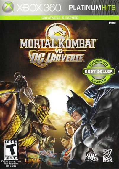 Jogo Mortal Kombat Vs Dc Universe Xbox 360 X360 Luta Origina