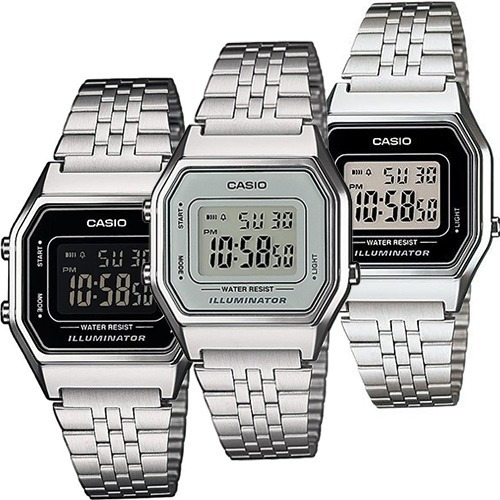 311492dc4941 Reloj Casio Retro Dama La680 Plata Gris - 100% Original -   749.00 en  Mercado Libre