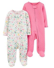 Kit 2 Pijamas Macacão Carters Menina