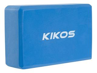 Bloco De Yoga Pilates Em Eva Azul Kikos Ab3626 Retangular