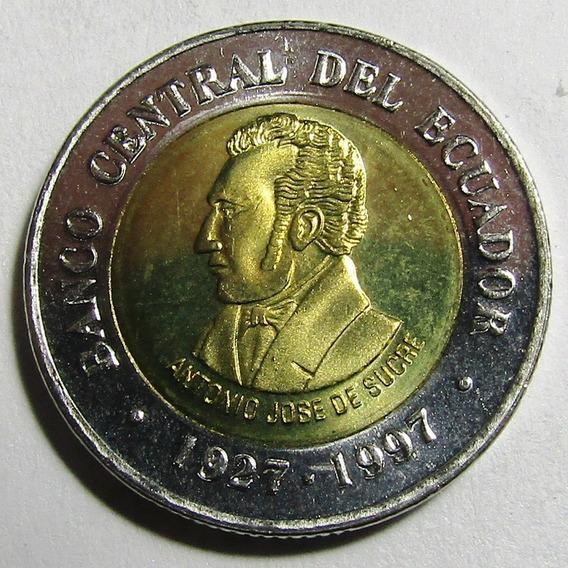 Ecuador Bimetalica Aniv Nac. Antonio Sucre 100 Sucres 1995