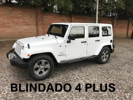 Jeep Wrangler Sahara 4 Ptas Blindado 4 Plus 2017 (impecable)