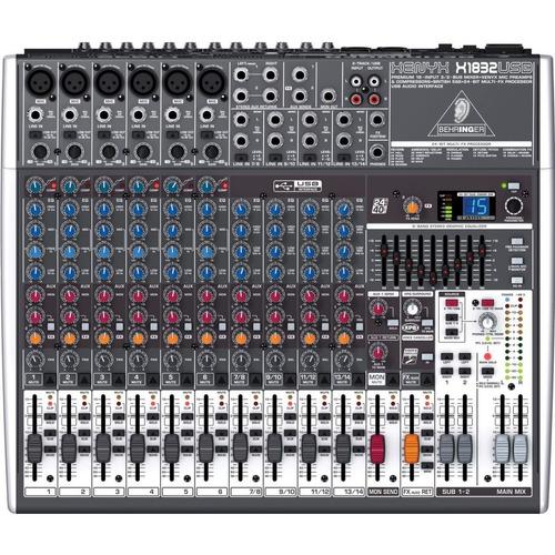 Imagen 1 de 5 de Mixer Behringer Xenyx X1832 Usb Efectos Phantom
