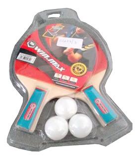 Paletas Ping Pong Blister C/3 Pelotitas Winmax Mm