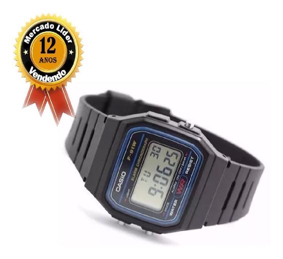Relógio Masculino Digital Casio F-91w-1ch - Preto