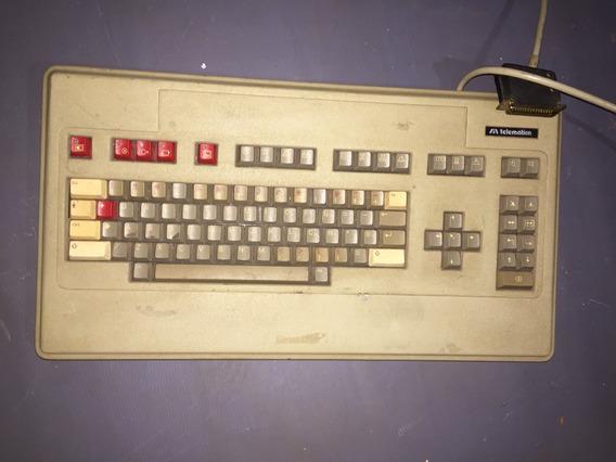 Teclado Antigo Telematica 7371 Conector Db34