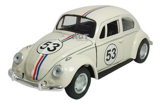Carrinho De Ferro Miniatura Fusca Herbie Brinquedo Coleçao