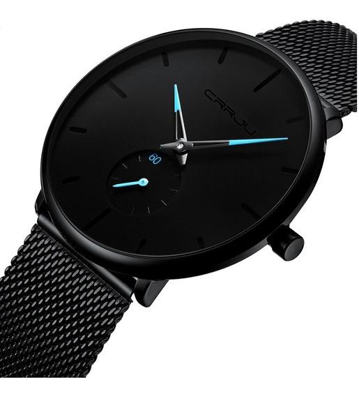 Promoção Relógio Masculino Crrju 2150 Original Azul