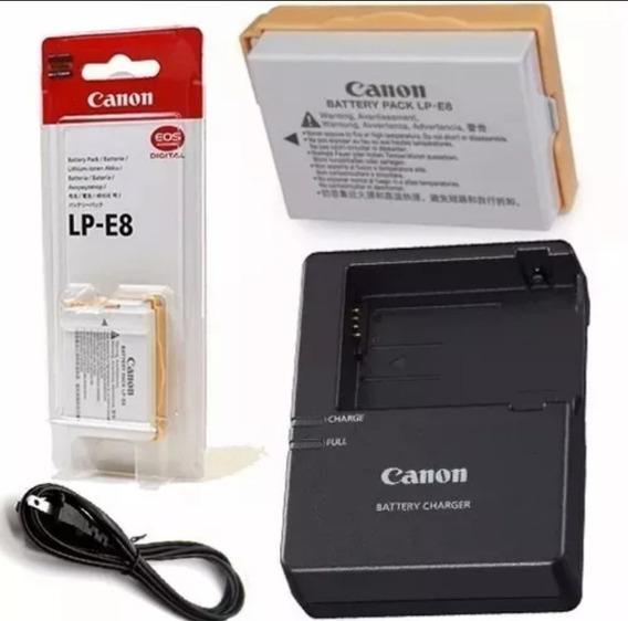 Bateria Lp-e8 + Carregador P/ Câmeras Canon T2i T3i T4i T5i