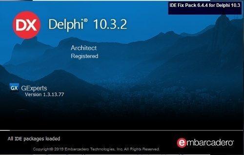 Delphi Rio 10.3.2 Architect Completo + 7 Componentes