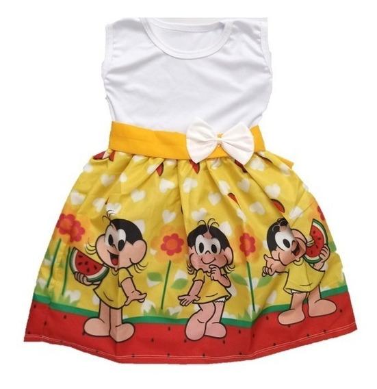 Vestido Infantil Festa Magali Turma Da Mônica Roupa/fantasia
